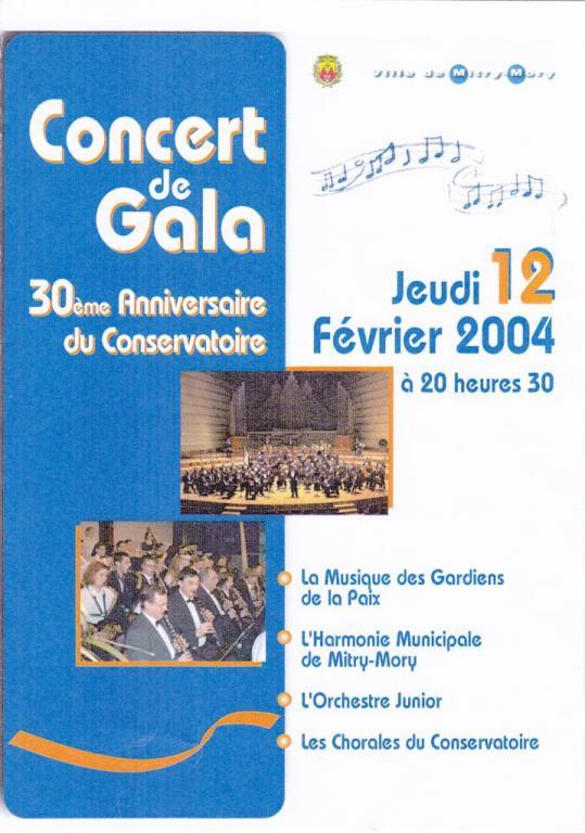 2004 - 30 ème Anniversaire du Conservatoire Municipal de Mitry Mory