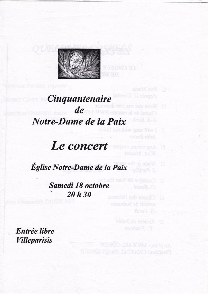 2008-Les 50 ans de Notre Dame de la Paix Villeparisis