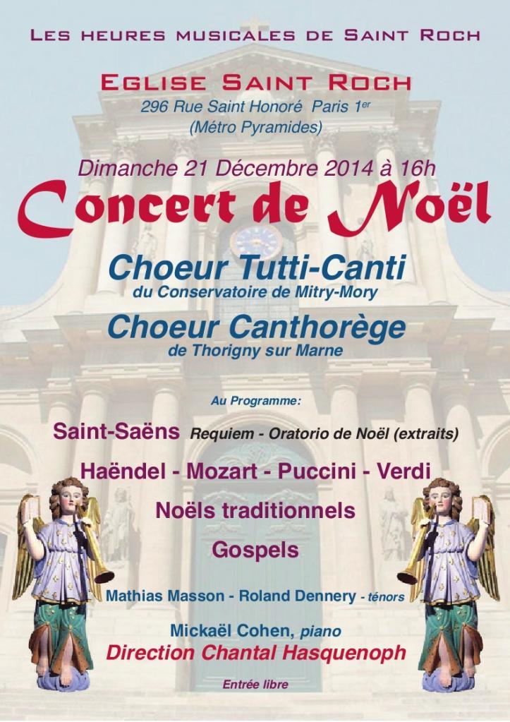 Affiche Concert St Roch 21-12-2014