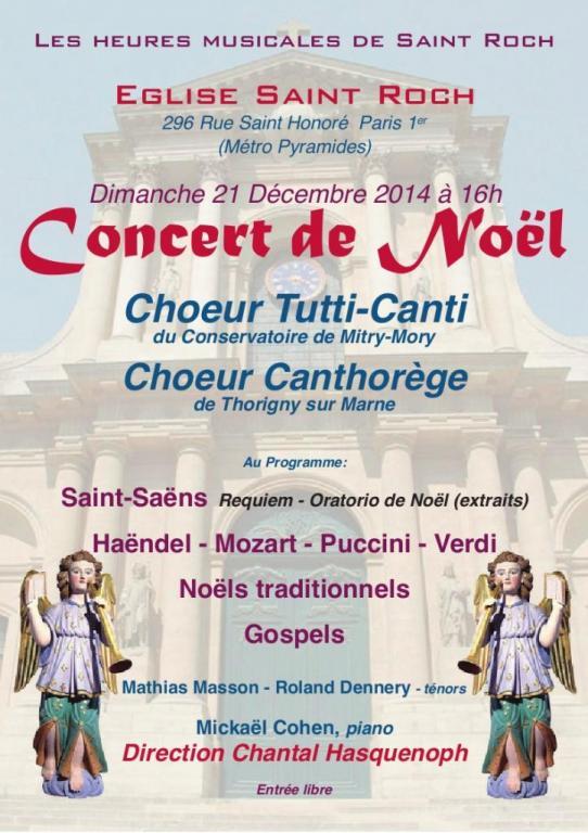 21-12-2014 - PARIS - Les Heures Musicales de St ROCH
