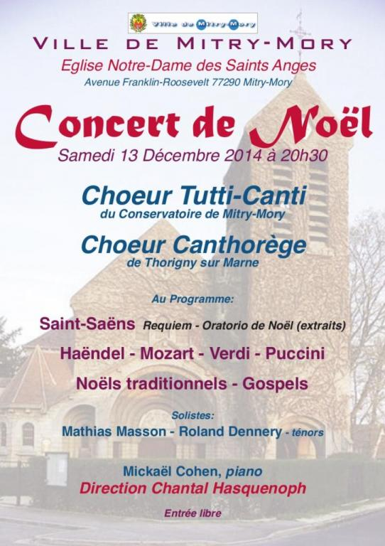 13/12/2014 - Concert de Noël - Eglise des Saints Anges