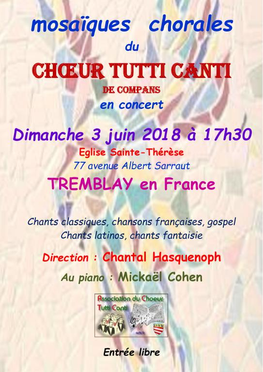 3 juin 2018 - TREMBLAY en FRANCE