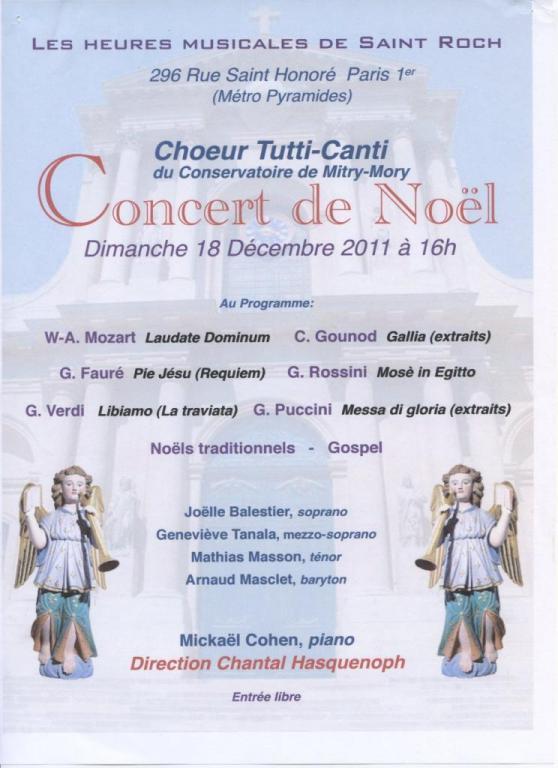 2011 - Les heures musicales de St Roch