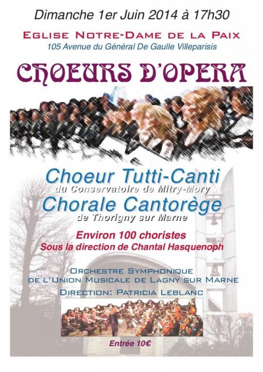 2014 - Choeurs d'opéra - ND de la paix - VILLEPARISIS