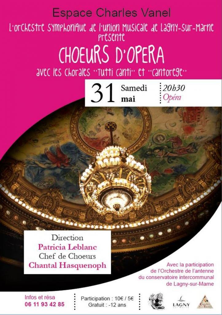 Les choeurs d'opéra à Lagny sur Marne 31 05 2014