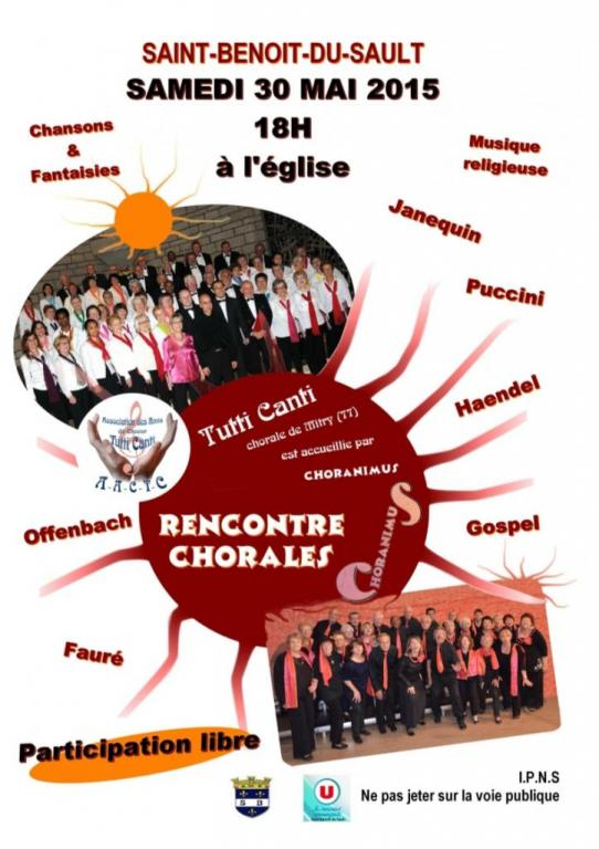 2015 - CHORANIMUS &TUTTI CANTI - SAINT BENOIT