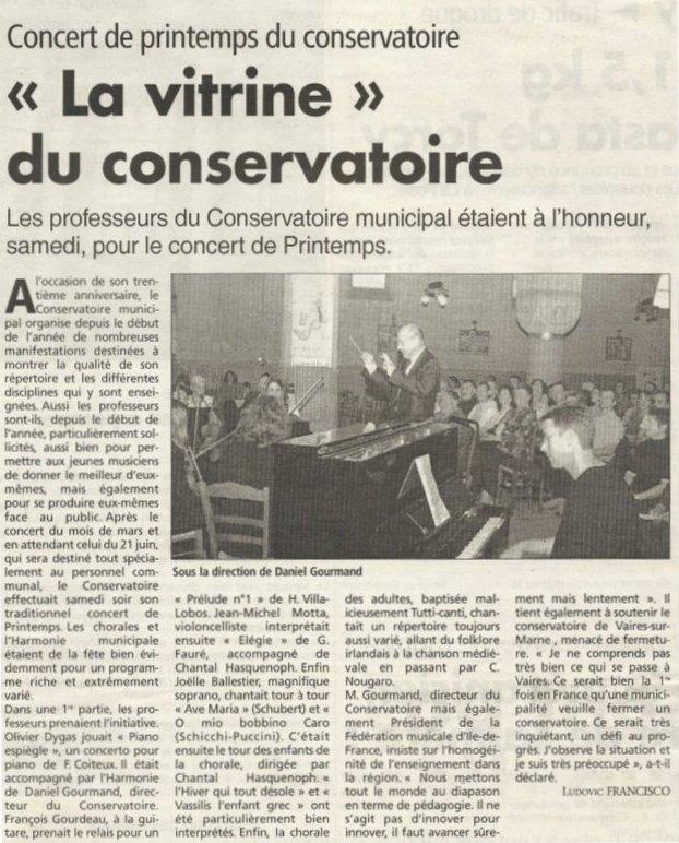 Concert Printemps Conservatoire mai 2004