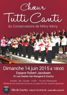 Affiche concert courtry 24 juin 2015