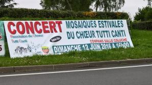 Banderole Concert Tutti Canti Compans 12 juin 2016