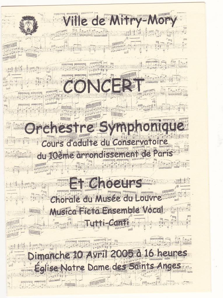 2005-Orchestre symphonique à N.D. des Saints Anges