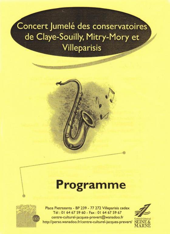 2006-Concert jumelé chorales Claye-Souilly Mitry-Mory et Villeparisis