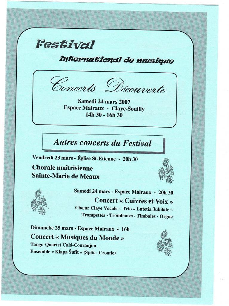 2007-03 Festival Claye