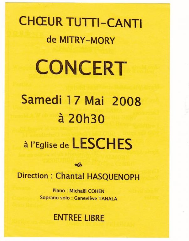 2008-Concert Tutti Canti à l'église de LESCHES