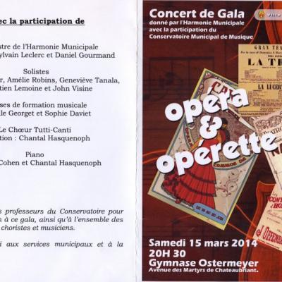 2014-Concert de Gala de l'harmonie municipale