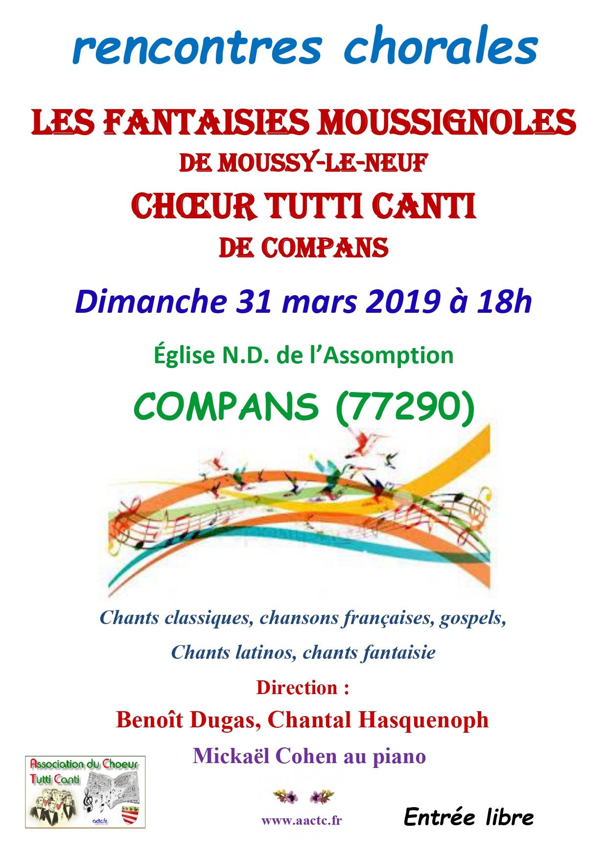 2019- COMPANS  - Rencontre chorales avec Les Fantaisies Moussignoles