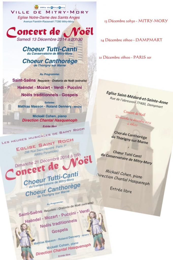 Noël 2014 - 3 concerts de Noël