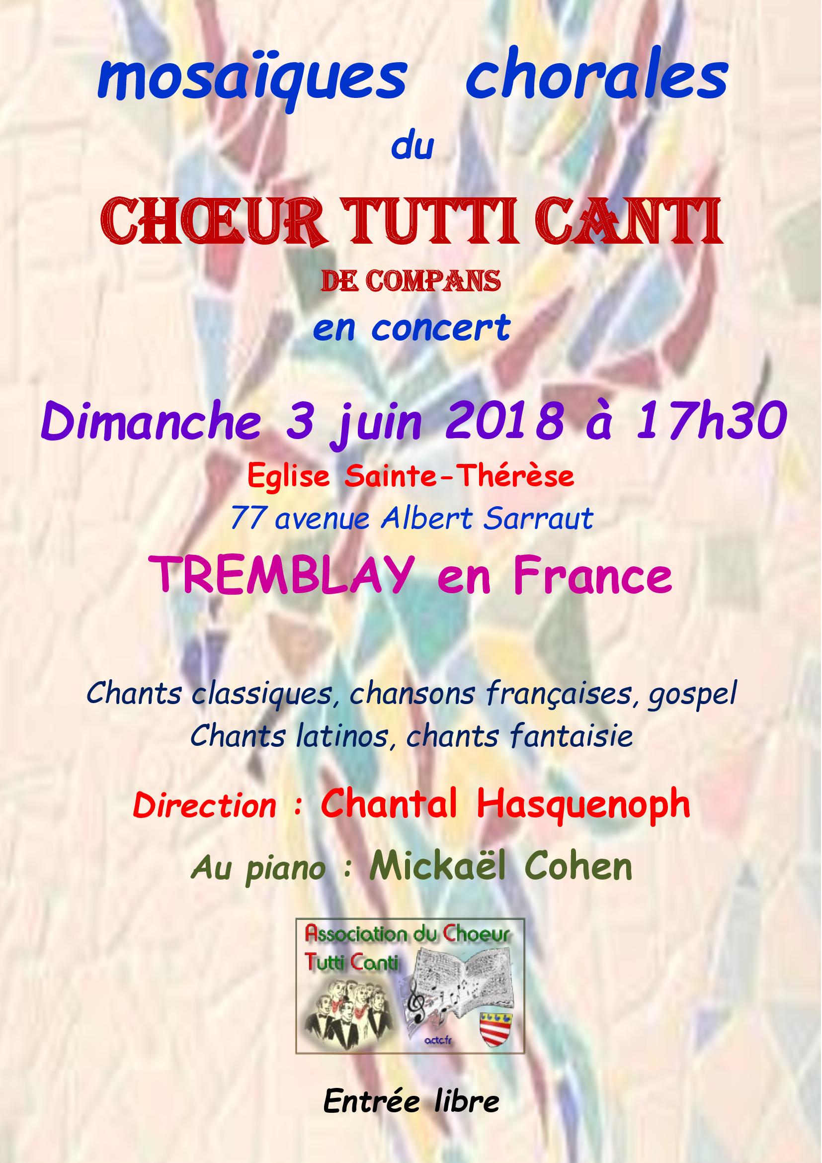 3 juin 2018 - TREMBLAY en FRANCE