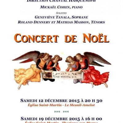 2015 Concerts de Noel  Mesnil Amelot et Thorigny