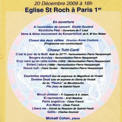 2009 - Les heures musicales de St Roch