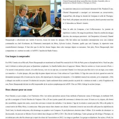 Noël 2015 - Article sur Chantal Hasquenoph - La Marne