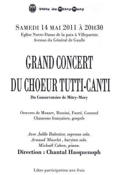 2011 - Concert à Notre-Dame de la Paix à Villeparisis