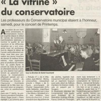Mai 2004 - Concert de printemps -  Conservatoire