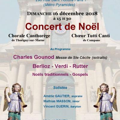 2018 - PARIS - Eglise St ROCH - Concert de Noël