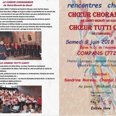 9 juin 2018 - Rencontre chorales avec Choranimus